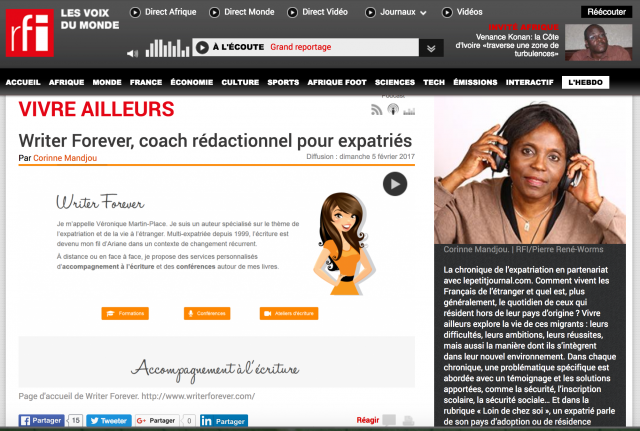 Mon interview sur Radio France Internationale